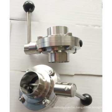 Cheap Price Sanitary Stainless Butterfly Valve, Butterfly Valve for Milk