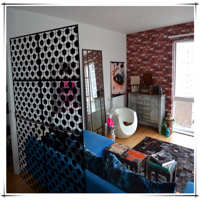Iron Laser Cut Room Divider