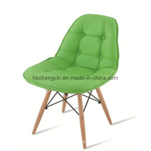 Modern High Quality PU Leather Eames Chair with Wood Base