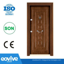 Turkish style luxury security armor wooding door design