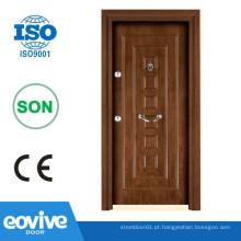 Design de moda porta interna de aço e madeira