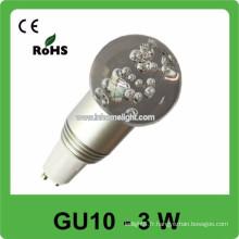 CE et ROHS 3w AC 85v-265v RVB suivre les ampoules spot garantie gu10,3 ans
