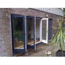Woodwin Quality гарантированная двойная закаленная стеклянная алюминиевая двустворчатая дверь