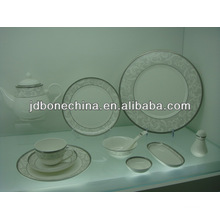 En relief en or, style Australien, expresso, tasse, couteau, coutellerie, table à vaisselle, porcelaine, dîner, ensemble