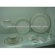 Em relevo ouro australiano estilo espresso caneca faca talheres dinnerware tabela porcelana jantar
