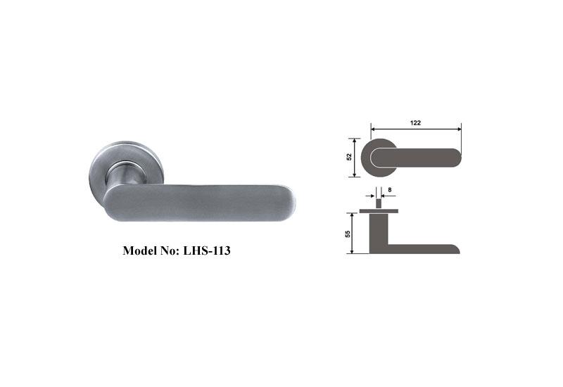 Popular Solid 304 Ss Door Lever Handles B