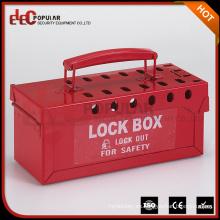 Elecpopular Productos Nuevos 2016 Caja de bloqueo de bloqueo de grupo portátil Caja de etiqueta de bloqueo de seguridad con múltiples orificios