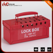 Elecpopular New Products 2016 Portable Group Lock Box Safety Lockout Tagout Box With Multi Holes