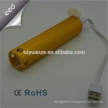 Led usb flashlight Usb факел света Led фонарик с USB зарядное устройство