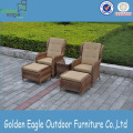 Outdoor Wicker Furniture Rattan Set de jantar de 3 peças