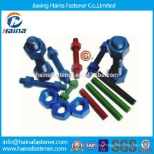 China fornecedor de estoque de alta resistência DIN975 completo parafuso de rosca com superfície de teflon