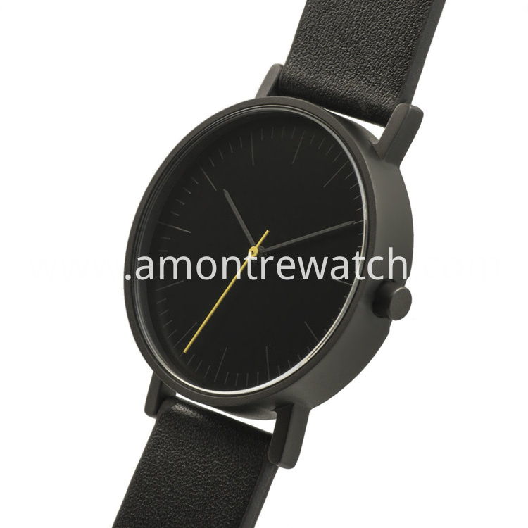 black dial watch Clean Design
