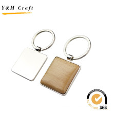 Promotion Gift Various Shapes Metal Wooden Keychain with Laser Logo