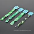 Heißer Verkauf Polyester-kundenspezifischer Frottee-Wristband für Festival
