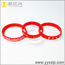 Custom Logo debossed and embossed silicone bracelet