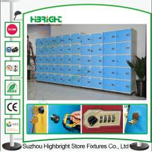 Шесть ярусов офисной кабинки ABS пластик синего цвета