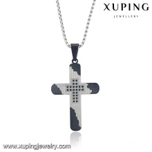 32722 Fashion Religion Series Cool Cross Colgante de cadena de joyería de acero inoxidable