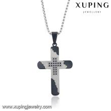 32722 Mode Religion série Cool Cross en acier inoxydable Bijoux Chaîne Pendentif