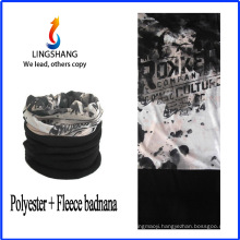 LINGSHANG fashion custom print bandana sports bandana polar fleece multifunctional bandana