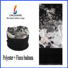LINGSHANG мода обычай печать бандана спортивный бандана флиса многофункциональный бандана