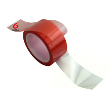 Red MOPP double sided adhesive PET tape