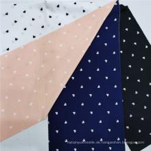 Vier-Wege-Spandex-Polyester mit Herzdruck