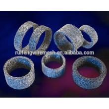 Treillis métallique tricoté compressé (filtre à laitier Airbag)