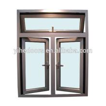 материал створки окна и алюминиевые жалюзи