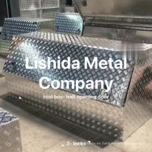 Caja de herramientas de camión de aluminio de media tapa impermeable