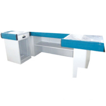 GS certificated cash counter table design Supermarket checkout counter Store cashier counter desk