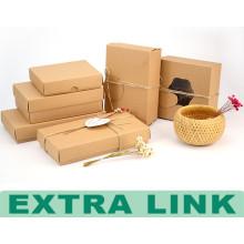 Presente la caja decorativa de lujo de encargo del embalaje de alimentos de papel de gama alta de Kraft popular