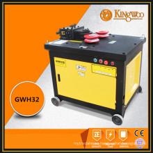Persiguiendo a la agencia 3KW barra de acero curvada máquina GWH32