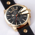Business Classic Leather Band Men Quartz Watch