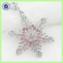 High Quality Silver Handmade Crystals Snowflake Charm Wholesale