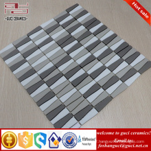 chinese supplier Strip Frosted surface mixed crystal glass mosaic tile for house wall design