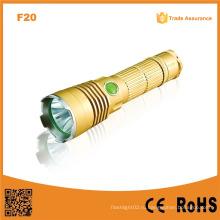 F20 Xml T6 перезаряжаемые полицейский фонарик / охотничий светодиодный фонарик