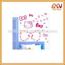 Produits chauds chinois d'un autocollant mignon de mur pour chat, en papier autocollant