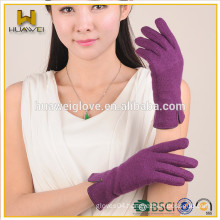 Fashion Warm Handmade Wool Glove,High Quality Wool Gloves with Polyester Lining