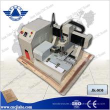Alumínio cobre ouro prata madeira Desktop portátil Mini CNC Router JK-3030