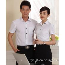 Custom Short Sleeve Polo Neck Business Cotton Shirt