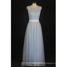Real Sample Bridesmaid Dress Sheer Tulle Lace Applique Floor Length Wedding Party Dresses