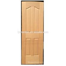 Piel de la puerta de la puerta de madera natural Piel de la puerta moldeada Piel de la puerta de chapa de melamina