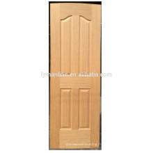 peau de porte en bois naturel peau de porte moulée peau peau de porte de placage de bois mélaminé
