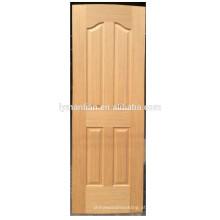 a pele de madeira natural da placa da porta moldou a pele de madeira da porta do folheado da melamina da pele da porta