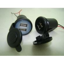 Carregador de bateria completo material do carro da emergência da velocidade do ABS 12V com USB econômico