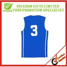 Logo Printed Custom Mejor diseño de jersey de baloncesto