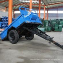 Remorque de tracteur de ferme d'axe simple de capacité de 1 tonne