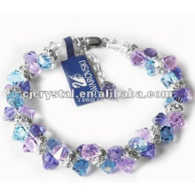 Colorful Faceted Crystal Beads Bracelets, glass beads bracelets