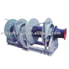 Treuil d'amarrage hydraulique double tambour