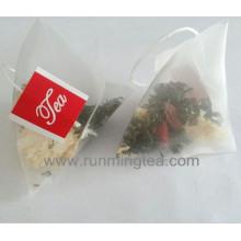 Sello de calor pirámide alimenticia bolsita de té